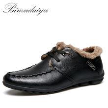 BIMUDUIYU Бренд Тепло зимой Весна Лето Случайные Плоские Туфли Классические мужские Ботинки Loafer Дышащей Комфортной Езды Обувь