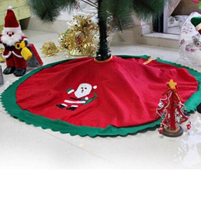 Красная рождественская елка, юбка, ковер, вечерние украшения, рождественские украшения для дома, нетканые, Рождественская елка, юбка, фартуки