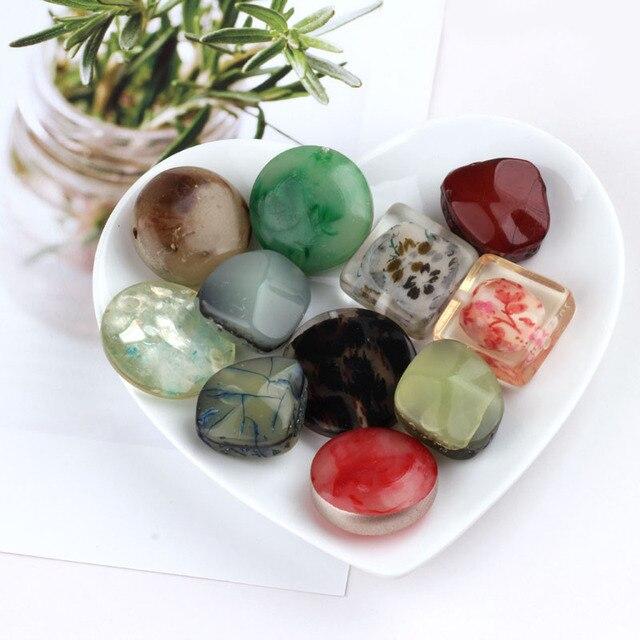 10 pcs acessórios feitos à mão DIY, resina piercing, fresco, quadrado, irregular, modelagem, brincos, pingentes pulseira colar.