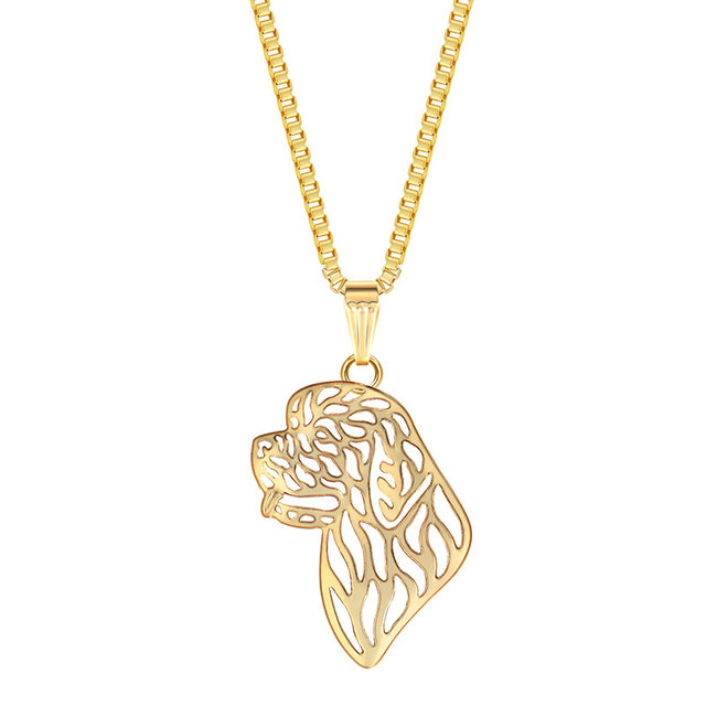 Newfoundland dog pendant necklaces gold color animal dog charm puppy newfoundland dog pendant necklaces gold color animal dog charm puppy necklace dog jewelry gifts for women aloadofball Gallery