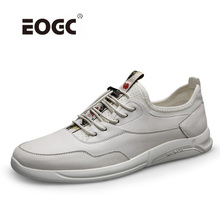 Genuine Leather Men Shoes Spring Casual Shoes Waterproof Flats Outdoor Rubber Fashion Sneakers Lace Up Breathable Shoes Men ecco fashion casual men sneakers genuine cow leather shoes mens business breathable waterproof casual sports shoes