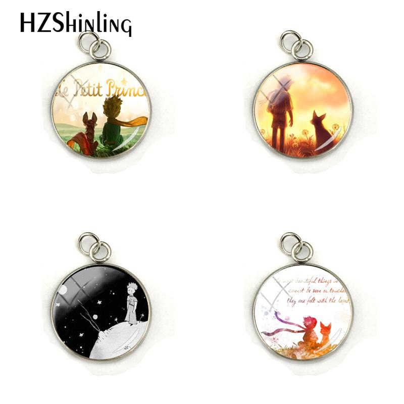 The Little Princes Pendant Statement Handmade Fashion Dome Glass Round Cabochon Charm Jewelry For Women