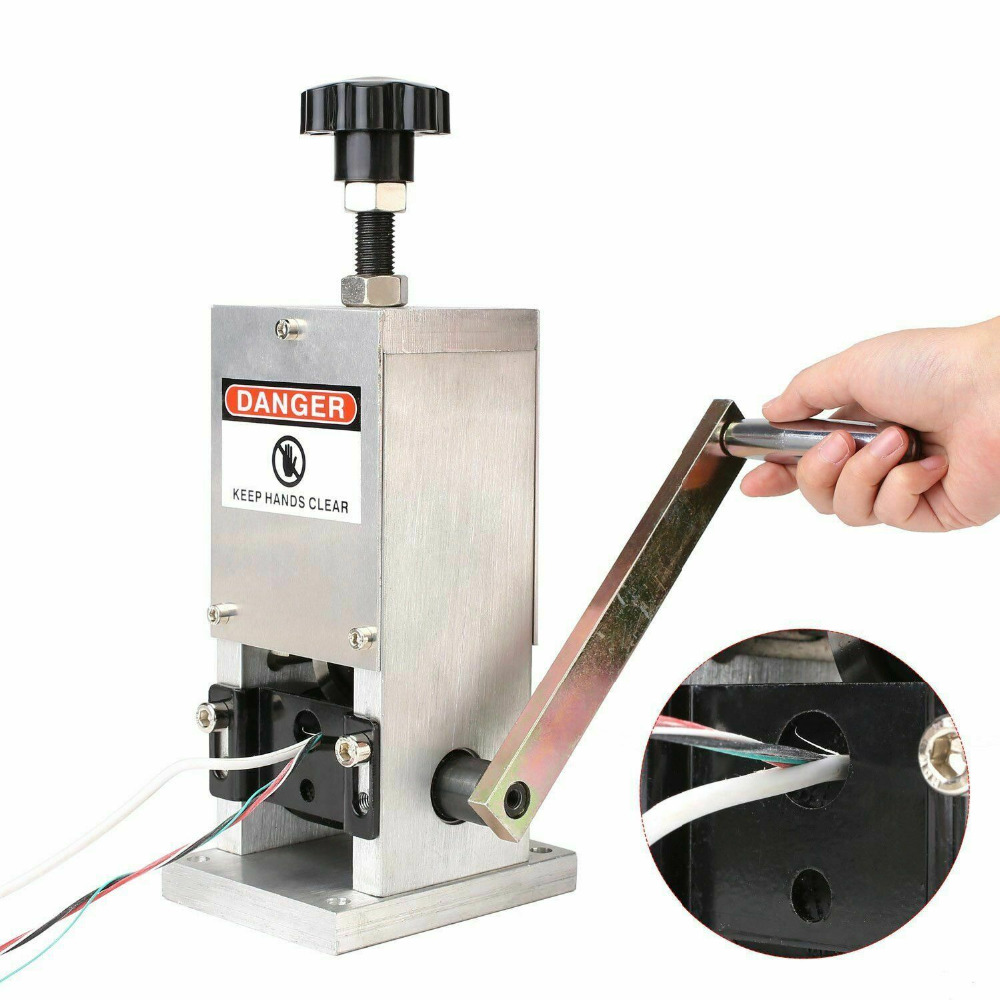 2  PCS  Manual Wire Stripping Machine Hand Crank Wire Stripper Machine Copper Wire Stripping Machine