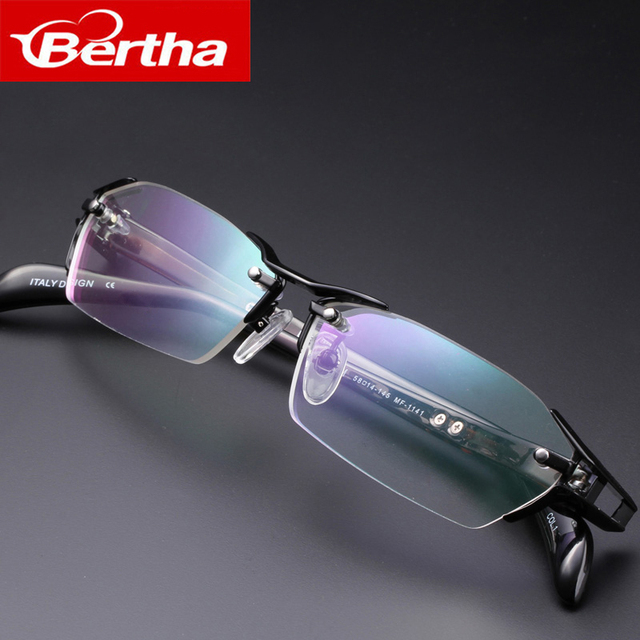 Берта прозрачные очки в оправе для мужчин Титан деловые очки рецепт очки оптические очки для 1141