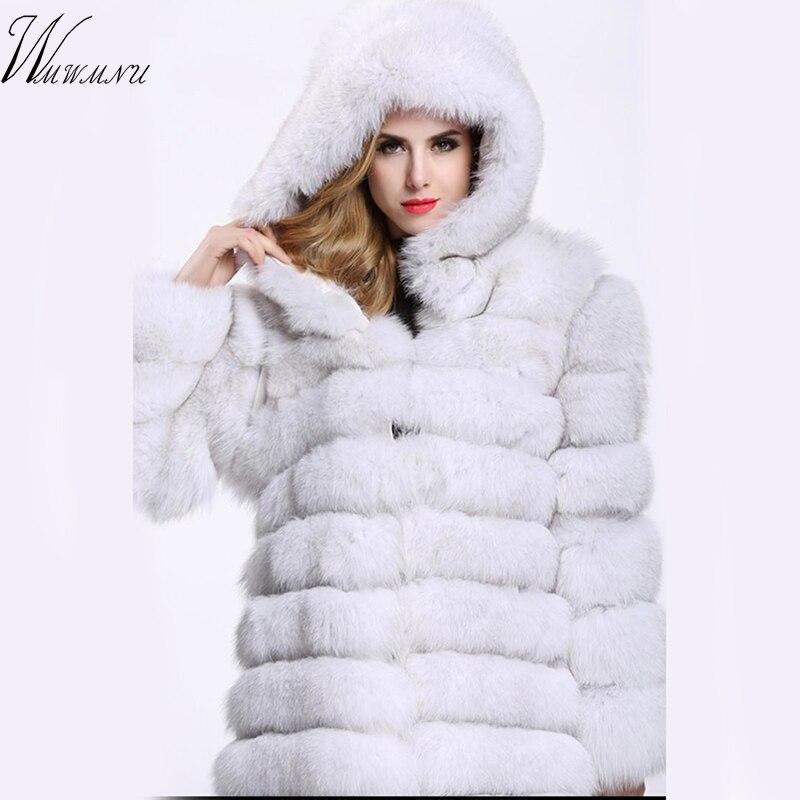 ห้องดีลักซ์fauxขนยาวเสื้อน้ำหนัก1.8กิโลกรัมสบายๆthickingแขนยาวฟ็อกซ์ขนเสื้อตุ๊กตาที่อบอุ่นขนาดบวก4xlฤดูหนาวคลุมด้วยผ้าขนเสื้อ-ใน เฟอร์เทียม จาก เสื้อผ้าสตรี บน   1