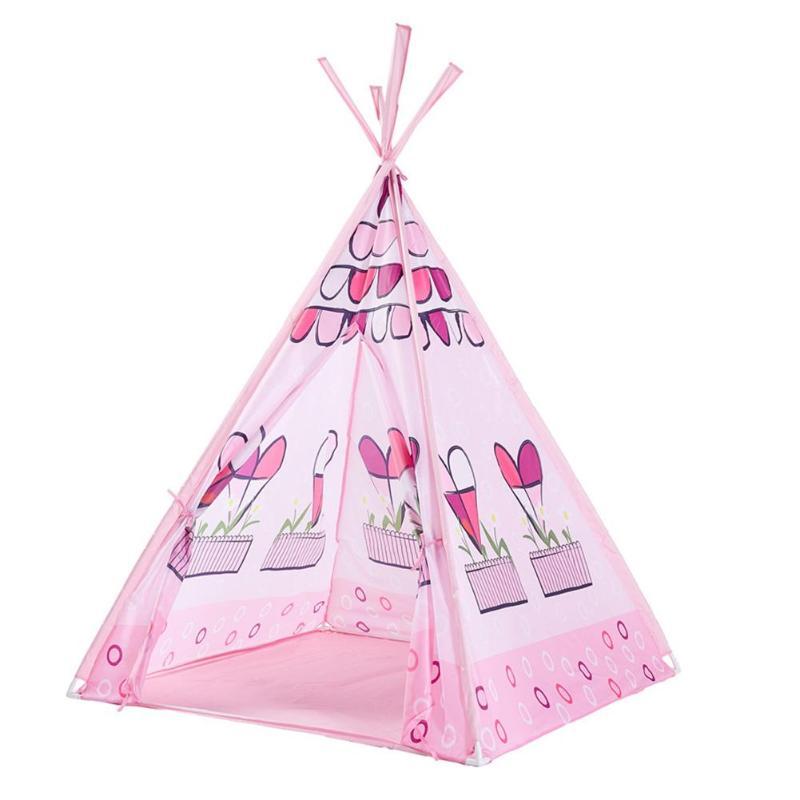 Rose princesse château jouer tente enfants enfants filles tente maison 165*100 cm présent Playhouse enfants tipi tente cadeau d'anniversaire