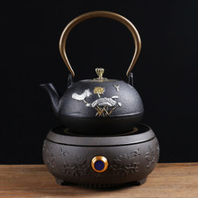цены на Japanese style Health teapot tea set home cast iron pot electric ceramic stove Boiled water kettle office kung fu furnace