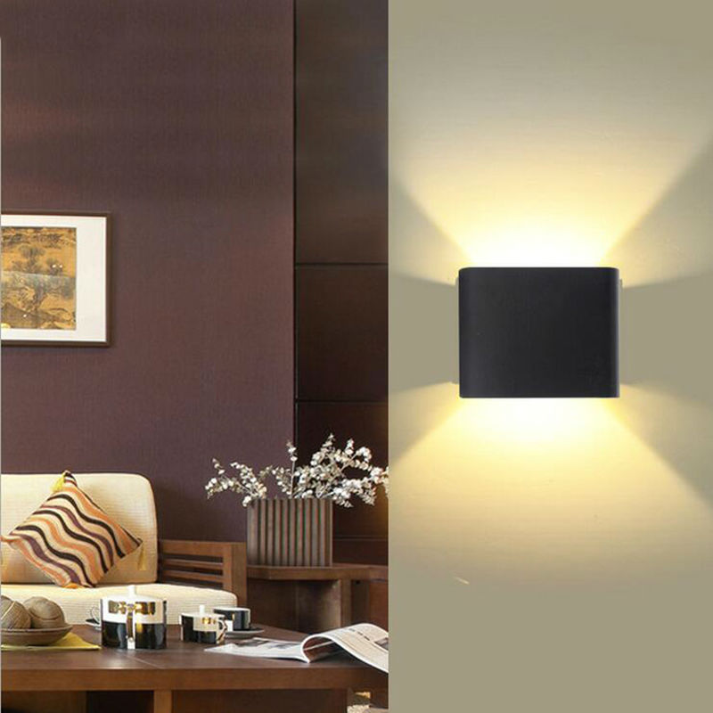 Up And Down Led Indoor Wall Lights : 6w waterproof led wall lamp wall light dimmable surface mounted outdoor cube luminaire up and ...