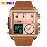 SKMEI Men Digital Watch Fashion Business Wristwatch Luxury Chronograph Luminous Electronic Bracelet Men's Clock 3 Time Watches