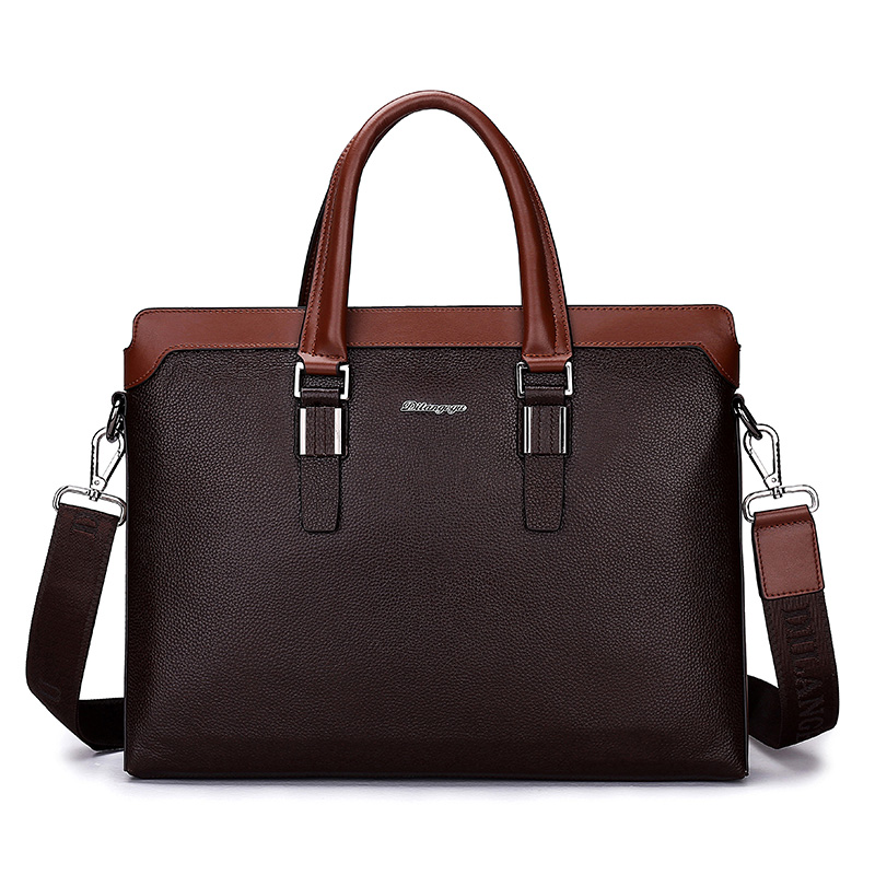 Подробнее о Genuine Leather Briefcase Mens Business Shoulder Bags High Quality Men Fashion Handbags Brand Cross Laptop Tote Bag for Man new men business handbags messenger bags genuine leather bag men briefcase fashion high quality brand design shoulder bag ys1444