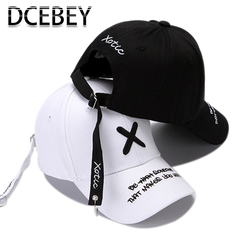 Fashion Embroidery   Baseball     Cap   for Men Summer Black Cotton   Caps   Women bone Hip Hop Snapback   Cap   Male Adjustable Dad Hats White
