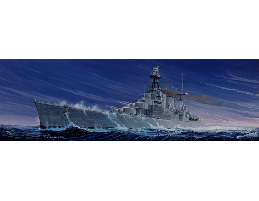1pcs Action Figures Kids Gift Collection For Trumpeter 05302 1/350 HMS Battle Cruiser Hood Plastic Model Warship Kit