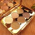 Profissional 6 Cor Da Sombra de Olho Brilhando Conjunto de Maquiagem Paleta de Maquiagem Cosméticos de Longa Duração À Prova D' Água Diamante Cor Perolado