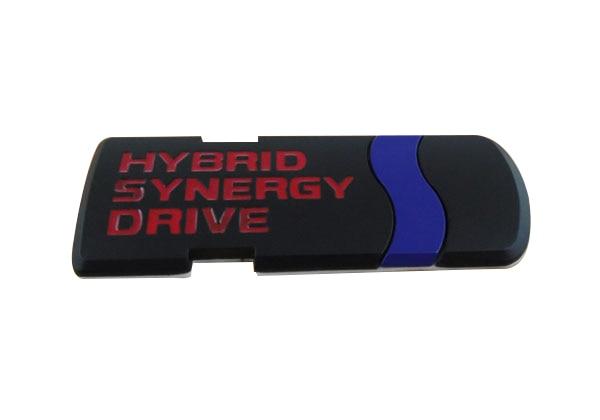 Auto car Black Red HYBRID SYNERGY DRIVE Emblem Badge Sticker auto car chrome red gts for ghibli quattroporte emblem badge sticker