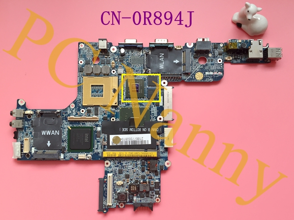 FOR DELL LATITUDE D620 CN-0R894J R894J HAL00 LA-2792P MOTHERBOARD 945PM TESTED WORKING