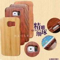 2018 cas de luxe Pour Samsung Galaxy S6 Bord, qimei bambou Naturel et bois shell cas de couverture arrière pour samsung Galaxy S6edge