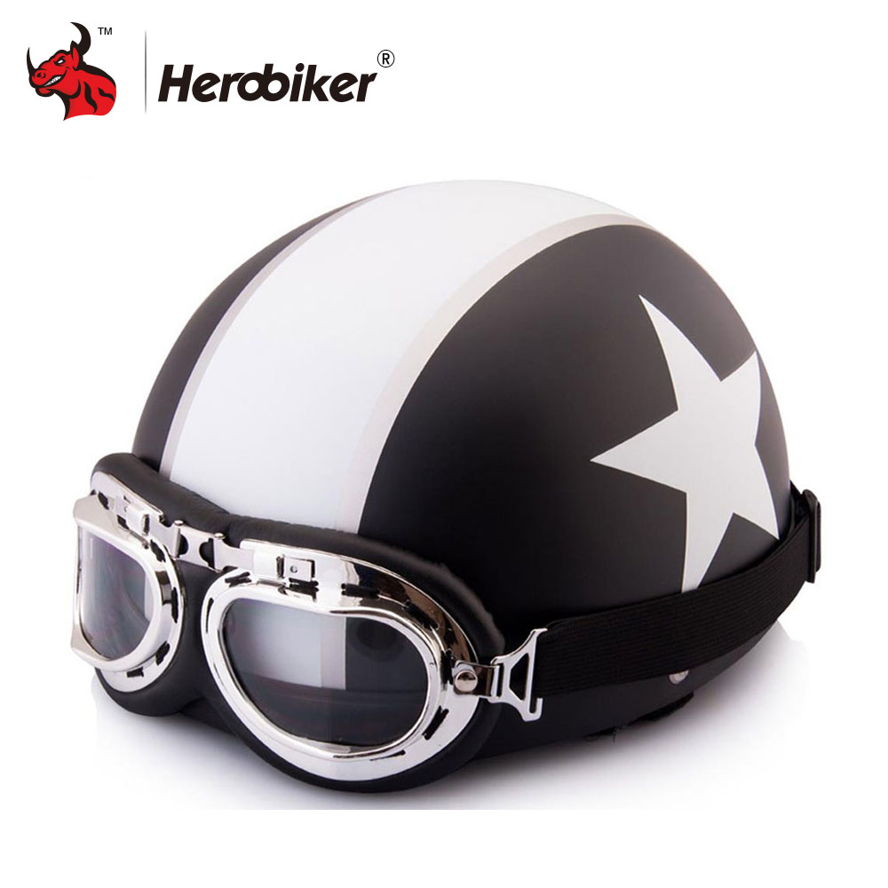 Hot motor scooter motorcycle motocross capacete open face for Best helmet for motor scooter