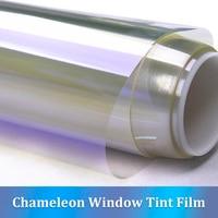 CARBINS Car Front Window Tint Film Windshield UV Privacy Protection 75% VLT Purple blue Chameleon Color 100*150cm Sheet