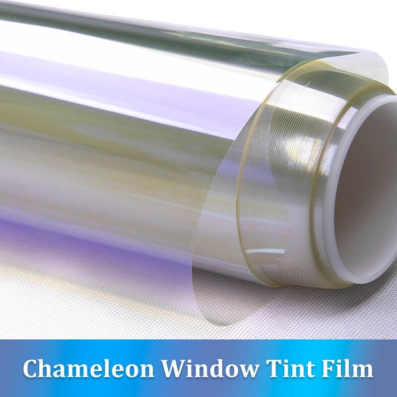 CARBINS voiture avant fenêtre teinte Film pare-brise UV Protection de la vie privée 75% VLT violet-bleu caméléon couleur 100*150 cm feuille