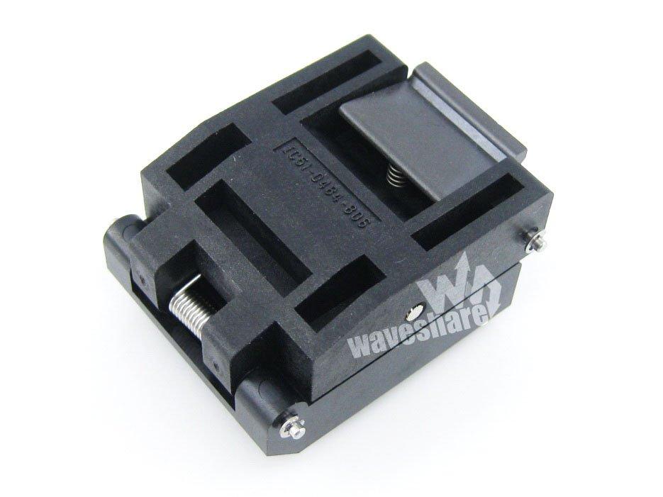 module QFP48 TQFP48 FQFP48 PQFP48 IC51-0484-806 Yamaichi IC QFP Test Burn-in Socket Programming Adapter 0.5mm Pitch imports of ic test seat tqfp48 burning adapter dil48 tqfp48 1 zif