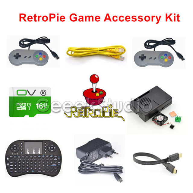 US $45 99 |16GB RetroPie Game Console Accessories Kit with 5V 2 5A Power  Supply for Raspberry Pi 3 Model B, Not include Raspberry Pi-in Demo Board