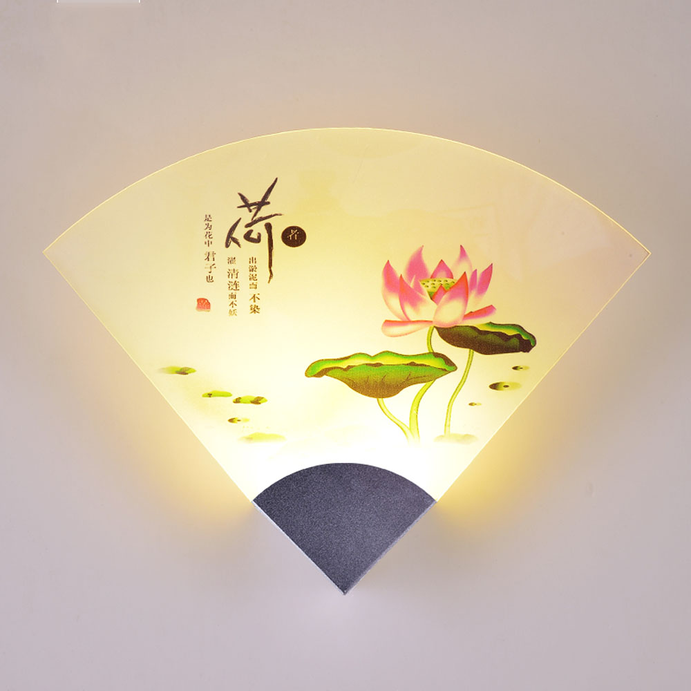 Chinese Style Vintage Wall Lamp 110v 220v Ancient Painting Fan ...