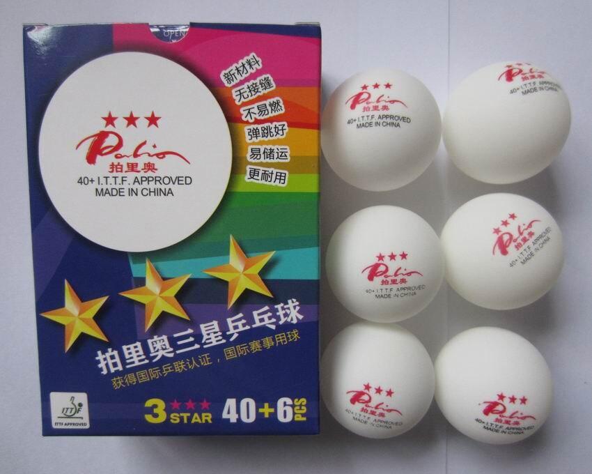 Original Palio New Material Seamless 40+ Table Tennis Balls 3 Stars Official T.T Ball Table Tennis Rackets Racquet Sports ITTF