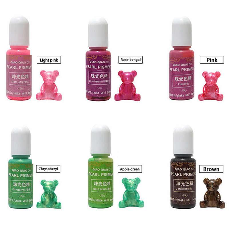 Hot 15g/butelka Pigment żywica epoksydowa UV DIY rękodzieło rzemiosło barwnik barwnik MDD88