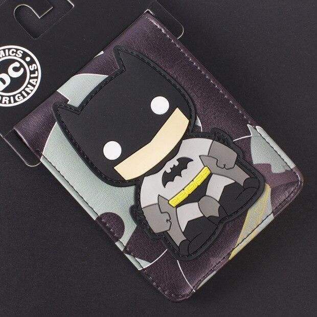 Comics DC Marvel Cartoon PVC Bags Kids Wallets Cool Batman Creation Purse Fashionable Durable Wallet carteira feminina