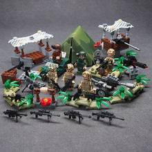 WW2 Military weapon gun soldier Set Army Schwarzwald Building brick Kids DIY Compatible Legoings Toy For Kids цена