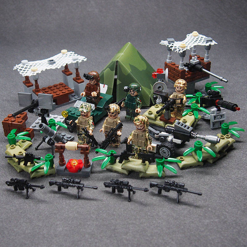 WW2 Military weapon gun soldier Set Army Schwarzwald Building brick Kids DIY Compatible Legoings Toy For Kids