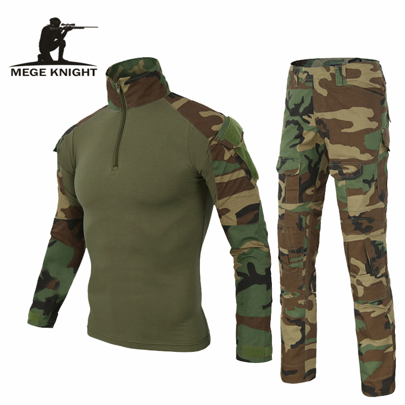 Army Clothing Tactical military uniform Airsoftsport Frog Camouflage Suit US Army Multicam Woodland BDU Clothing Set