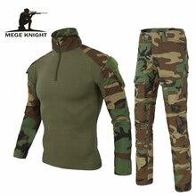 Ordu giyim taktik askeri üniforma Airsoftsport kurbağa kamuflaj elbise abd ordusu Multicam Woodland BDU giyim seti