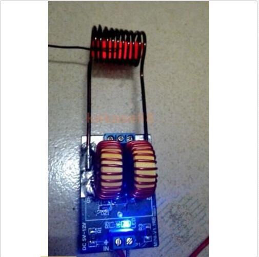 5 v ~ 12 v módulo de aquecimento por indução de alimentação ZVS tesla escada de Jacó