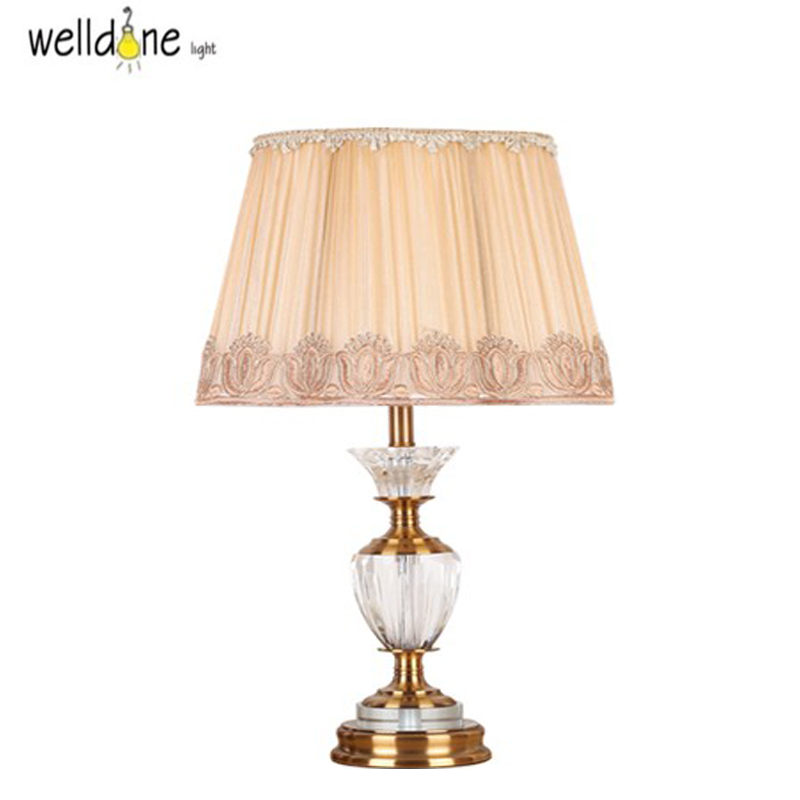 Quality Table Lamps: Fashion Ofhead K9 Crystal Table Lamp Luxury High Quality