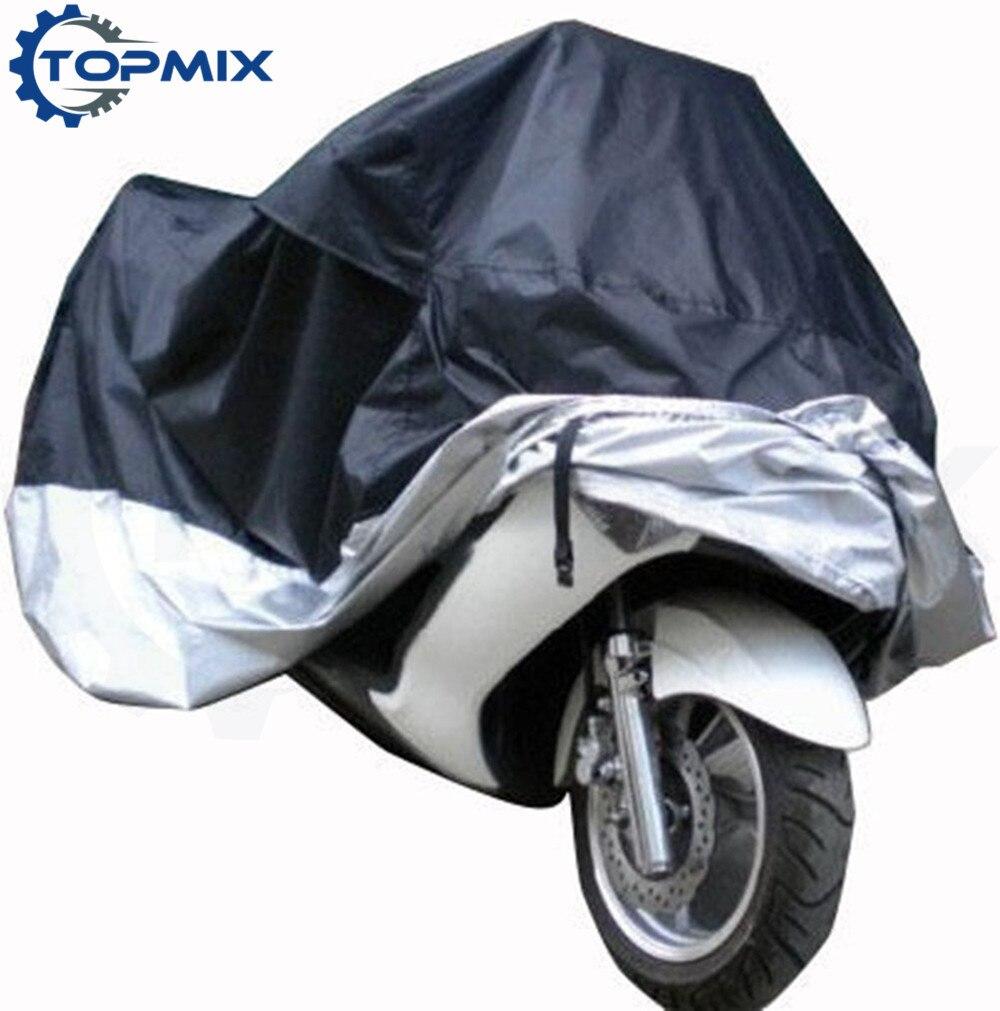 Motorcycle cover blacksilver 2