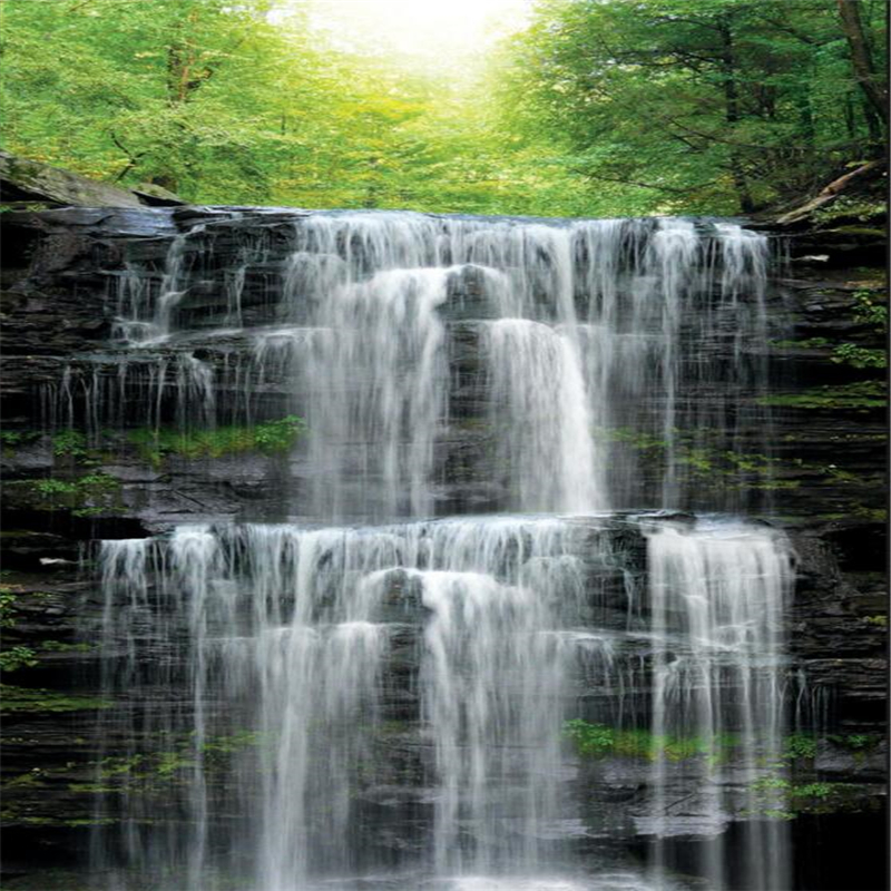 Beibehang Custom Wallpaper Beautiful Water Scenery Waterfall Landscape Decoration Painting 3d In Wallpapers From Home