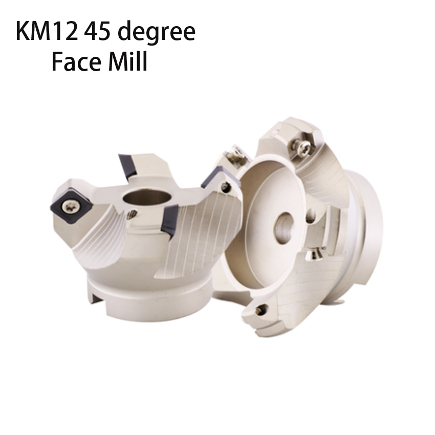 Face end mill shoulder KM12  100 32 6T 45 degree indexable face mill 100mm KM12 cutter for SEKT1204 carbide insert|Milling Cutter| |  - title=