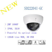 Free Shipping DAHUA 2016 Security Camera CCTV 2MP FULL HD 4x PTZ HDCVI Camera IP66 IK10 without Logo SD22204I-GC