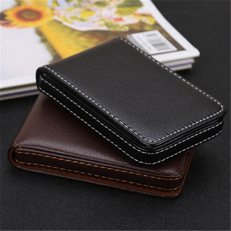 BYCOBECY New Business Smart Wallet RFID Blocking PU Leather Vintage Credit Card Holder Multifunction Waterproof Card Case