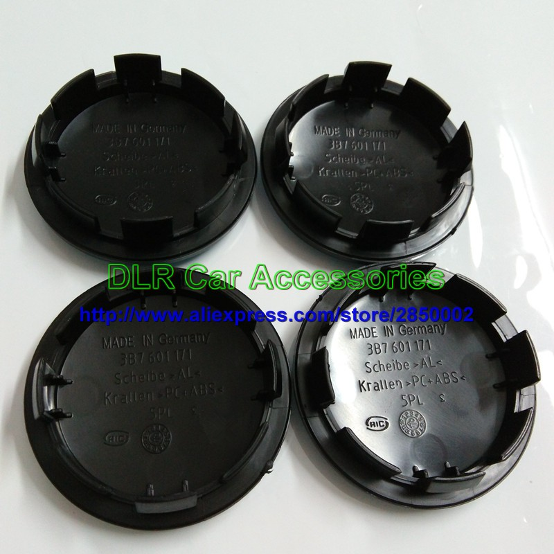 20pcs 65mm Black Car Wheel Center Cap Hub Caps Covers Badge Emblem For 3B7601171 3B7 601 171 Car Styling