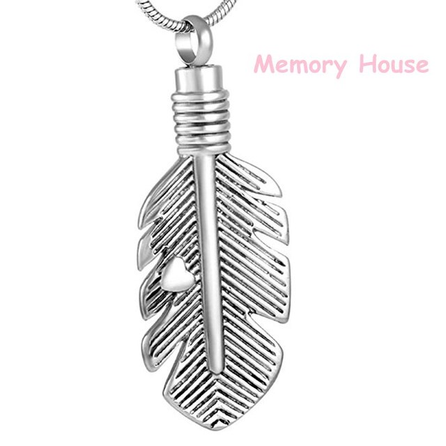 Jj001 little heart feather stainless steel cremation urn necklace jj001 little heart feather stainless steel cremation urn necklace ashes holder memorial keepsake pendant jewelry mozeypictures Image collections