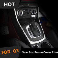 Interior Car Gear Box Upper Frame U Shape Cover Trim For Audi Q3 2013 2016