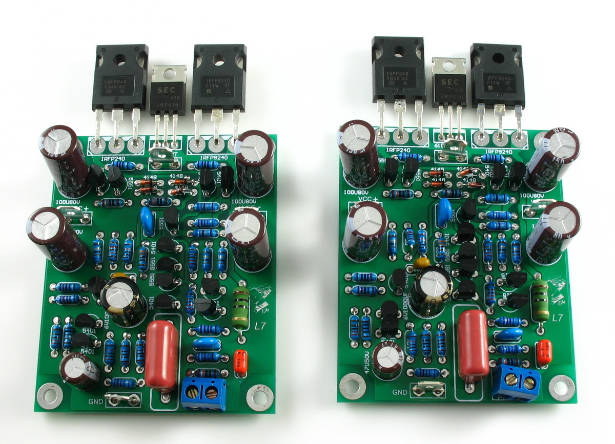 L7 Mosfet High Speed Power Audio Amplifier Kit Board 150w 2x100w Class D Circuit Hip4081a 200w Ab Dual Channel 300 350wx2 By