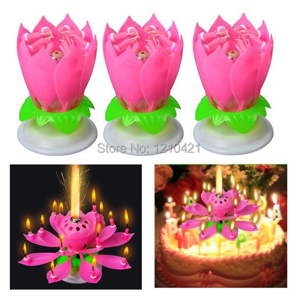 Тегін жеткізу 3Pcs / Set Музыкалық Lotus Flower - Үйдің декоры - фото 4