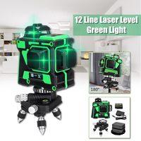 3D 12 Lines Adjustable Laser Levels 360 Self Leveling Horizontal Vertical Cross Green Laser Waterproof Beam Measuring Equipment