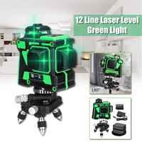 3D 12 líneas niveles de láser ajustables 360 auto nivelación Horizontal Vertical Cruz Verde láser impermeable equipo de medición