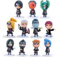 2018 New Hot 11pcs/set Children Dolls Japanese Anime Naruto Akatsuki 2.6'' Figure Toys Model Action Figure Birthday Gifts