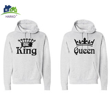 eb5017e2cb5 Autumn Winter Knitted King Queen Letter Printed Couple Hoodies Hip Hop  Street Wear Sweatshirts Women Hooded Pullover Tracksuits