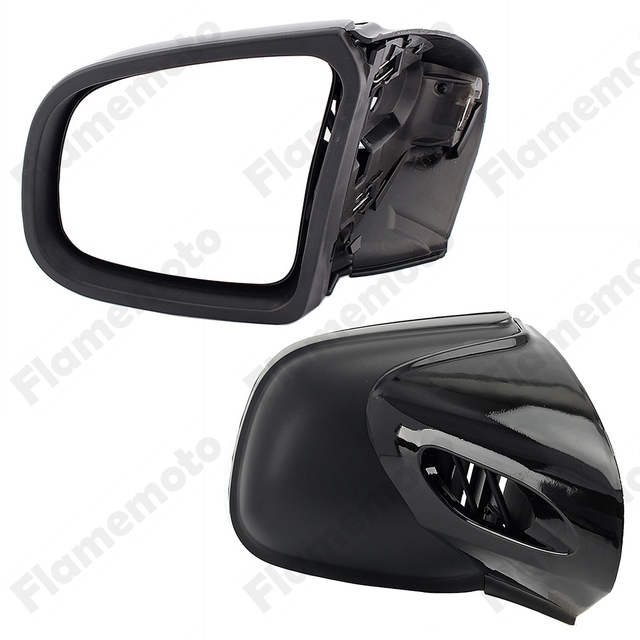 Black Motorcycle Mirror Paid Side Rearview Mirrors Left & Right For BMW K1200 LT K1200M 1999-2008 Accesorios Moto UNDEFINED